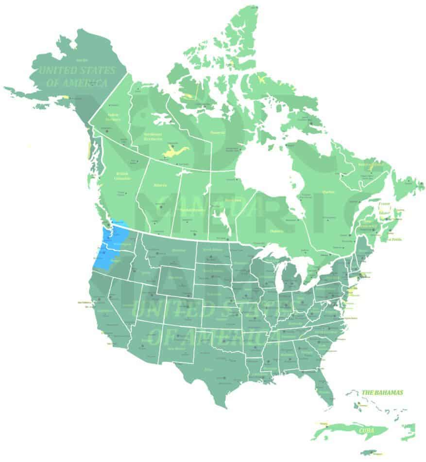 Townsend's Chipmunk range map