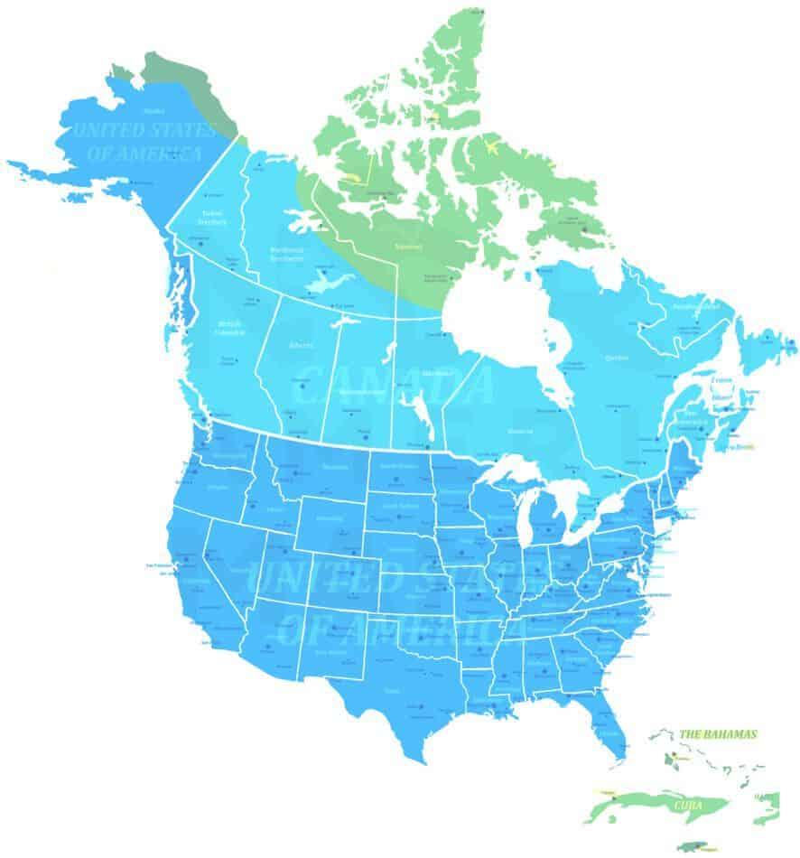 North American Beaver range map