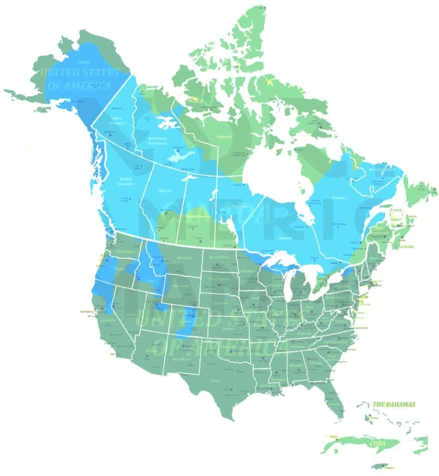 American Marten range map