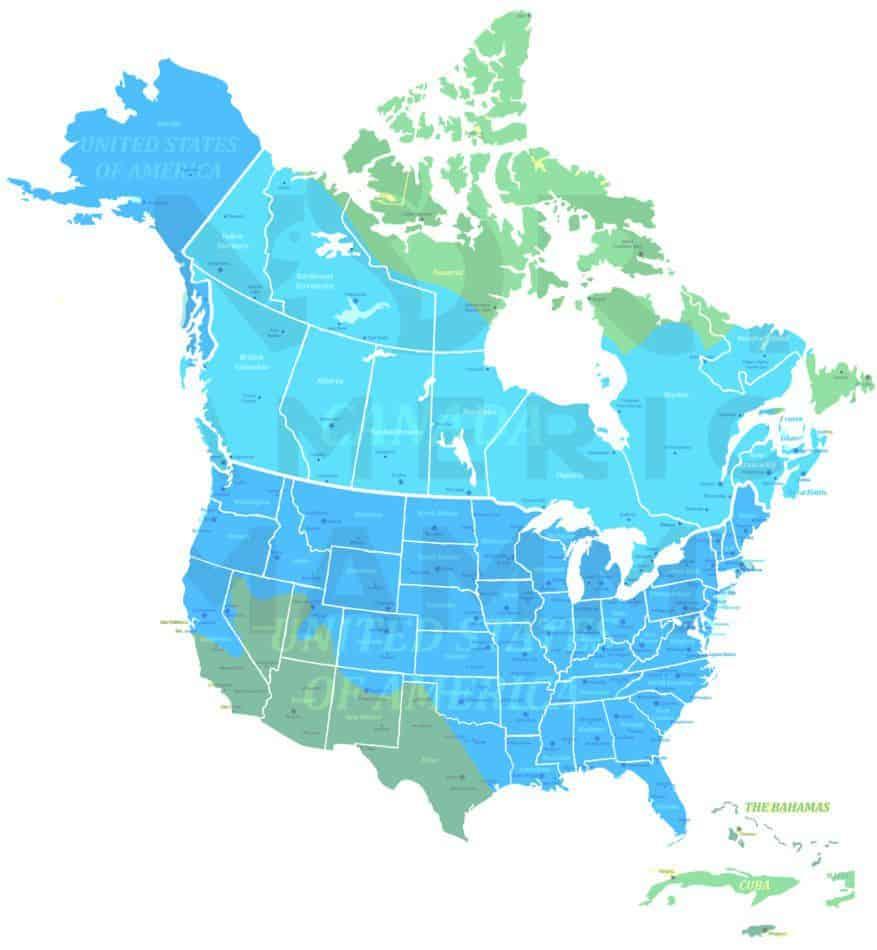 American Mink range map