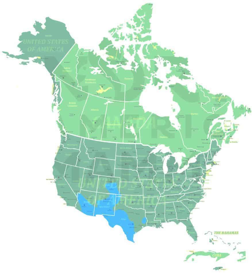 American hog-nosed skunk range map