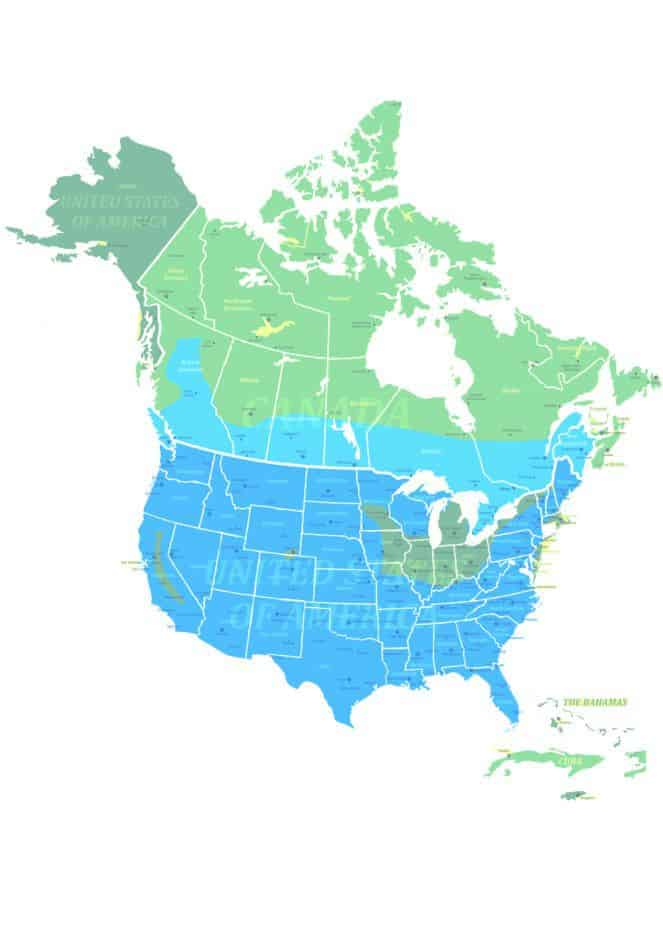 Bobcat range map
