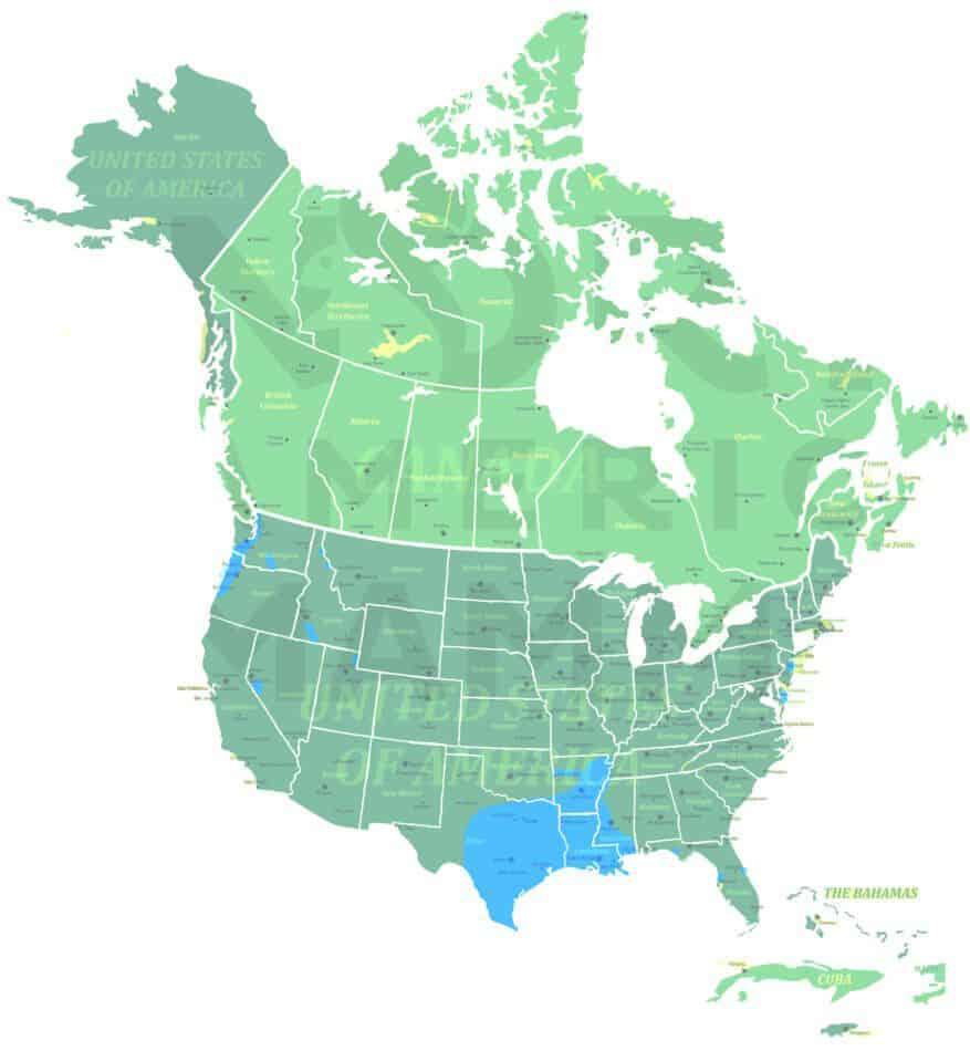 Coypu range map