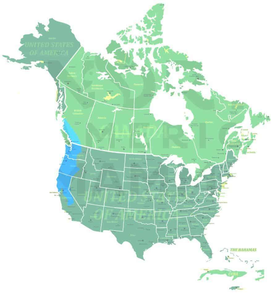 Douglas's Squirrel range map