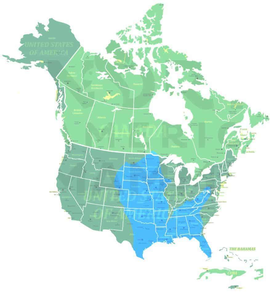 Eastern Spotted Skunk range map