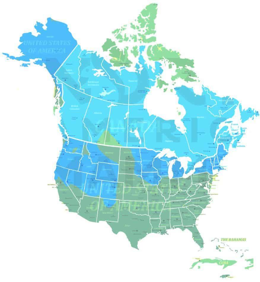 Ermine range map