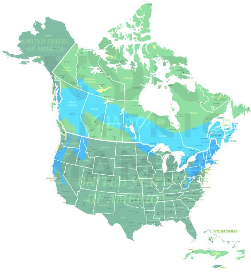 Fisher range map