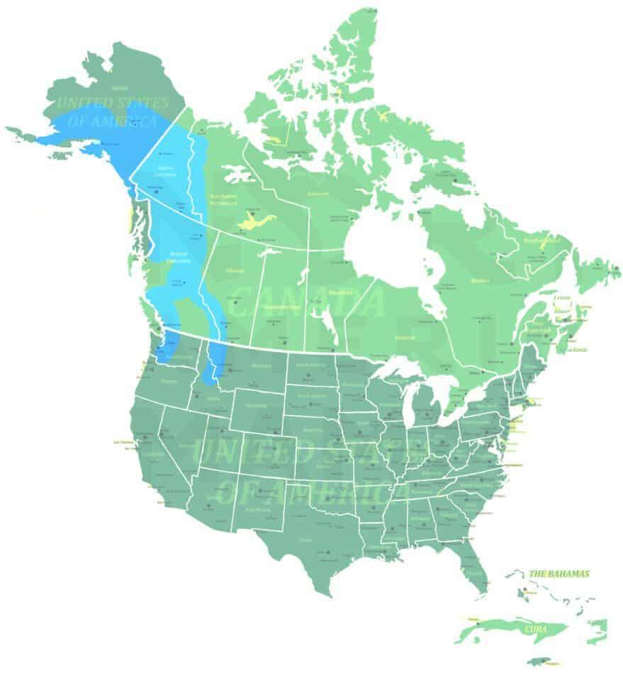 Hoary Marmot range map