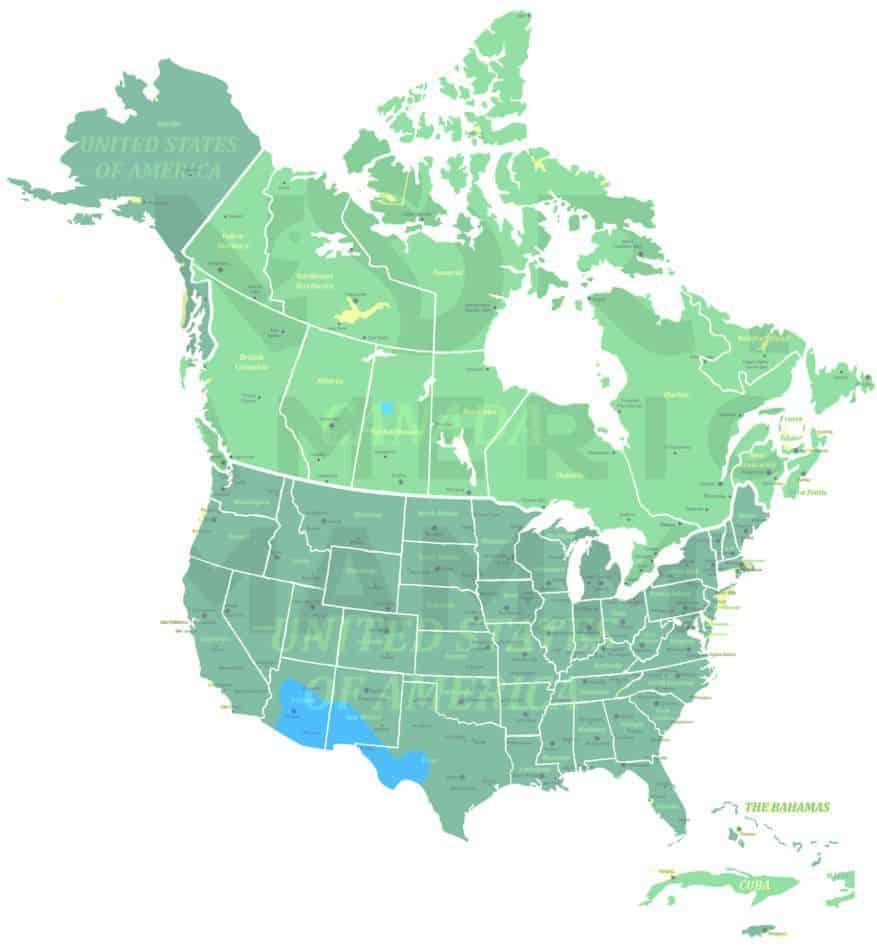 Hooded Skunk range map