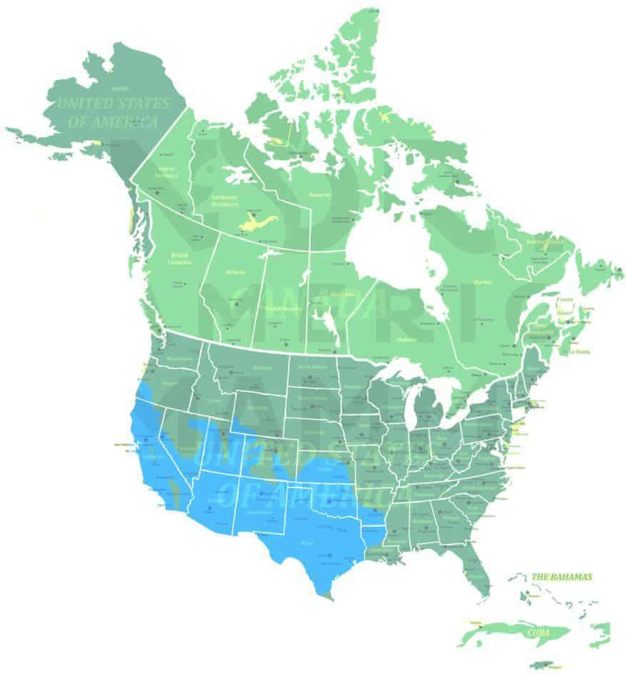 Ringtail range map