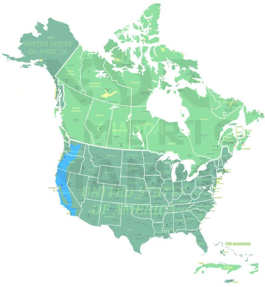 Western Gray Squirrel range map